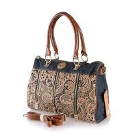 2014 new denim diamond large capacity bag handbag casual denim bag free shipping h7kj56