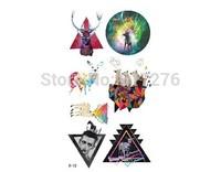 Promotion !!!!! 2014 Waterproof Tattoo Stickerfake tattoo Constellation temporary tattoos tattoo star (10pcs/lot)