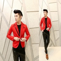 Free shipping! New ... Ms. fashion personality Slim wedding costumes red suit