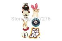 Promotion !!!!! 2014 Waterproof Tattoo Harajuku hand-painted rabbit PLAYBOBY DIY tattoo stickers (10pcs/lot)