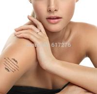 Promotion !!!!! 2014 Waterproof Tattoo dove feather tattoo skull star lipstick combination DIY tattoo stickers (10pcs/lot)