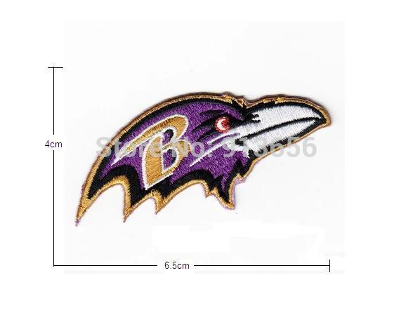 Free shipping! Ravens football team logo Computer embroidery mark Embroidered iron on charms DIY Cloth paste(China (Mainland))