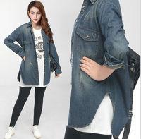 2014 New Fashion Large Size Women Slim Thin Dovetail Style Nostalgia Denim jacket 1288 2XL ,XXXL,3XL,XXXXL, 4XL free shipping