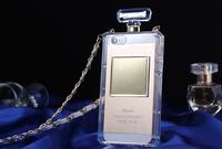 New style Fashion luxury Hard plastic transparent perfume bottle phone case for Iphone5 5G 5s free shipping