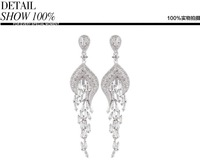 HOT SELL AAA the Main Stone   Zircon Crystal Earrings Long Earrings FREE SHIPPING