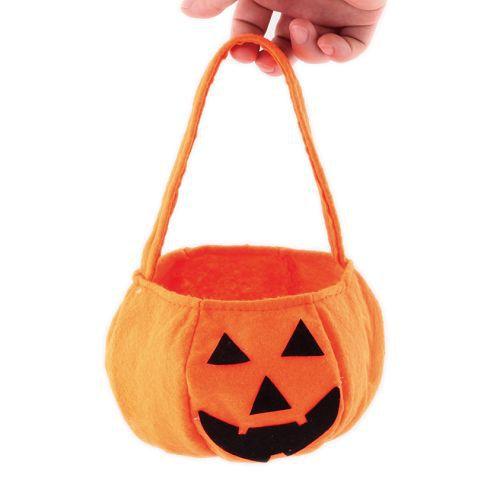 Halloween holiday smile pumpkin bag kids candy bag children handbag birthday party supplies trick or treat 95728(China (Mainland))