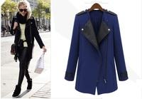 2014 New Winter Woolen Women Coat ,Female Overcoat, SlimTrench, Freeshipping S-XL,Freeshipping
