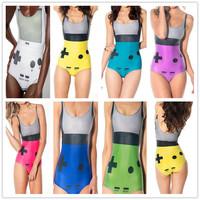 2014 Halloween Cosplay Women's Sexy One Piece 3D Print  Swimsuits Digital Print Swimwears Female Digital Print Clothes D-026