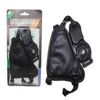 100% New Camera Black Leather Soft Wrist Strap/Hand Grip for Canon Nikon Sony Pentax Minolta Panasonic Olympus Kodak SLR/DSLR