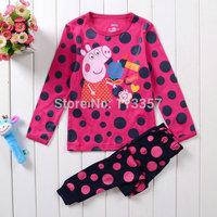 Peppa Pig girl clothing sets kids pajamas set 100% cotton pyjamas kids sleepwear girl clothes nightgown suit baby pijama sets