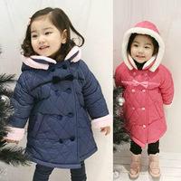2014 Winter Children Warm Coats Girls Removable Hooded Thick Jacket Coats Kids Coats Free Shipping 5 PCS