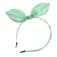 Princess baby headbands child accessories hair pin Wide stripes rabbit ears dance station Wholesale