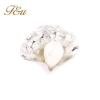Real Italina Rigant Genuine Austria Crystal Silver Plated Pearl Rings for Women Enviromental New Sale Girl Fashion Ring#245