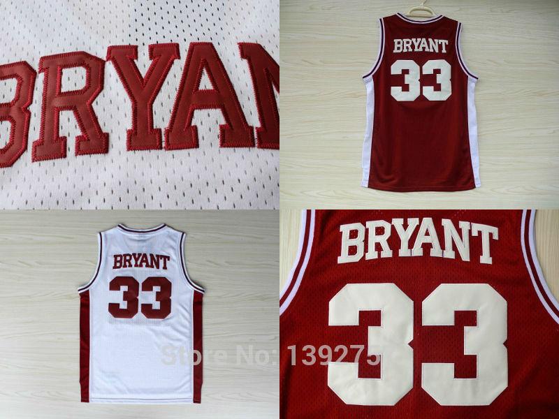 Kobe Bryant #33 Lower Merion High School Sports Jersey, Cheap Mesh Embroidery Logo Basketball Jersey,Free Shipping(China (Mainland))