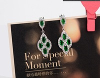 FREE SHIPPING Compose flash Sumptuous dinner AAA Zircon Earrings The Bride