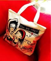 2014 new handbag canvas bag handbag leisure bag cartoon figure