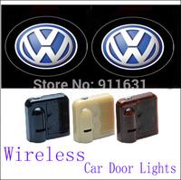 2PCS 9TH Car Led Door Lights For VW Car Logo Door Lights Car Projector Welcome Projector Shadow Light #E113B