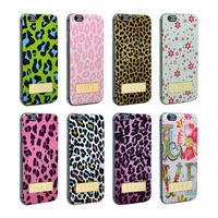 New Luxury Leopard Prints hard case TPU + Metal for Apple iPhone 6 4.7 inch Back cover Cartoon Case for iphone6 free shipping