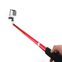 2pcs/lot High Quality Aluminum Alloy Handheld Extendable Selfie Stick Monopod For SLR / Digital Camera Phone Gopro Sport Camera