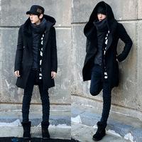 2014 Men's new winter coat and long sections Hedging windbreaker Korean Slim woolen coat jacket Men