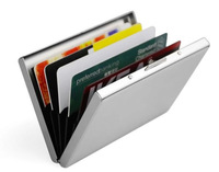 1 Piece Free shipping Business ID Credit Card Wallet Holder Pocket Case Box 301 stainless steel card holder