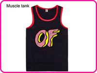 Stock Free Shipping Men's Sleeveless Brand Odd Future Vest Fashion Black Color Cheap Letter Print Odd Future Tops-006