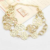 fashion accesory South Korean exports rose flowers exquisite fashion silver bracelet L0598B