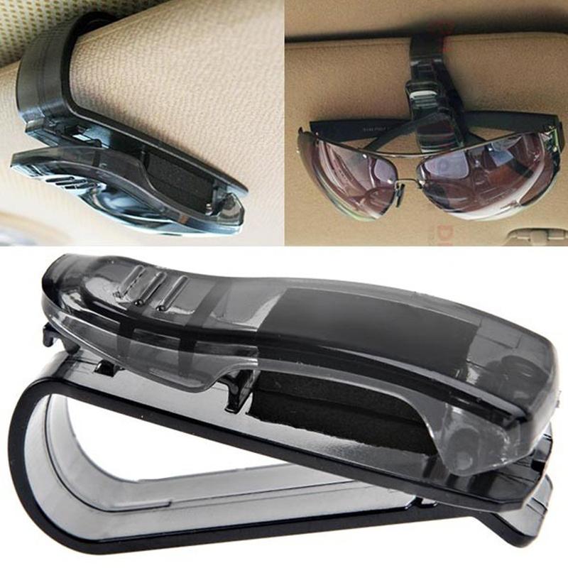 2 PCS Universal Auto Car Vehicles Glasses Sunglasses Sunglass Eyeglasses Eye Glasses Case Holder Business Card Ticket Visor Clip(China (Mainland))