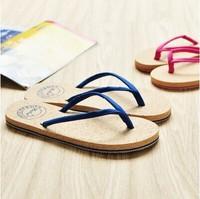 Summer beach slippers wood flip flops T-003