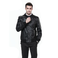 Freeshipping! New Fashion Mens Genuine Leather Jacket  HMC9904