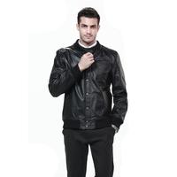 Freeshipping! New Fashion Mens Genuine Leather Jacket  HMC9904