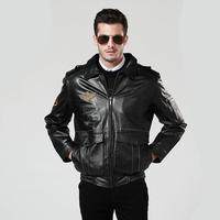 Freeshipping! New Fashion men's Cowhide motobike jacket  men clothes  Genuine Leather HMC9902