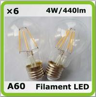 New 220V 230V 240V led glass bulb E27 4W 440LM = 40W incandescent bulbs