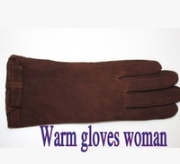 2014 New Winter woman  genuine leather gloves winter thermal woman  sheepskin gloves woman Warm gloves woman