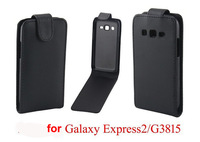 Free Shipping High Quality Black Vertical Flip Leather Case Cover for SAMSUNG GALAXY Express2 G3815