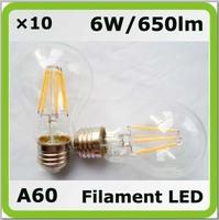 Nolvery 220V 230V 240V 6W Bombilla LED luminaria A60 650lm E27 = 60W incandescent bulbs