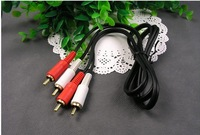 24k gold plate 2 RCA to 2 RCA cable , video cable Pure copper RCA CABLE AV CABLE