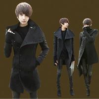 2014 Autumn  New  Tide Men  Men casual coat  Korean Slim woolen coat and long sections  Men's jackets