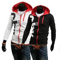 Hot New Men's Casual Fashion Sport Letters Printed Hooded Sweater Fleece ,Men Coat Jacket WY098