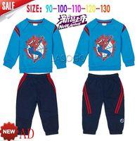 2014 new arrive brand AD spider-man kids autumn cloth set children clothing set children boys sport suit children clothing set