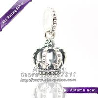 NEW S925 Sterling Silver Noble Splendor Dangle Charm Bead Fit European Women Jewelry Charm Bracelets & Necklaces Pendant CB365