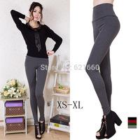free shipping PU leather  woman women lady girl sex show 2014 new women's bound feet solid high waist Leggings big code fat