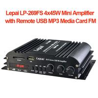 Lepai LP-269FS 4x45W Mini Amplifier with Remote USB MP3 Media Card FM + Power Adaptor Wholesale Free DHL