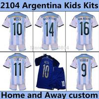 Cheap LIONEL MESSI Jersey Kids Argentina MESSI Kids Soccer Jerseys 2014 Boys Football Kit Argentina Kids Soccer Uniform Children