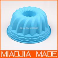 1pcs/ lot Silicone bakeware kitchenware Cuckoo chiffon cake plate wreath cake pan baking mold free shipping