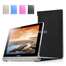 Ультра тонкий фолио кожаный чехол смарт-чехол для Lenovo Yoga планшет 10 HD + B8080
