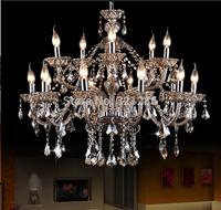 large crystal chandeliers  Living Room modern 15 Arms Large Chandelier Crystal  Lustre for Home and Hotel