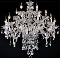 New Luxury Chandeliers K9 Crystal Chandelier  large 15 arms crystal chandeliers  Living Room modern Large Luxury chandelie