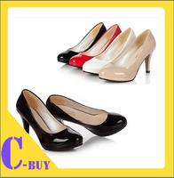 Free Shipping  2014 Fashion  Height Basic High Heels Women Pumps Casual Shoes with Thin Heels 8.5 CM size EU 35-39