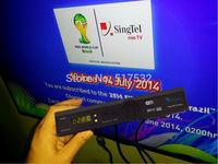 2pcsBlack box HD-C600 Plus HD-C608 HDC600 Plus MVHD HD800C-VI +Youtube+WIFI support N3 EPL HD channels Singapore Starhub box